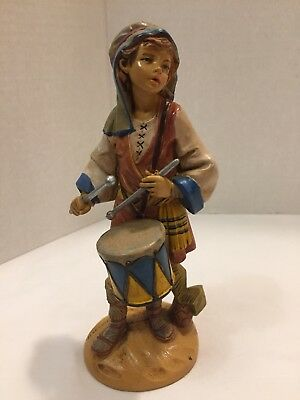 "Fontanini Jareth Drummer Boy Nativity Figure #137 - by Roman - 1989 - 7.5"" Scale"