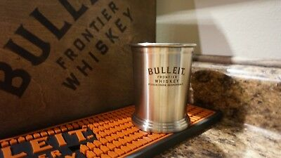 Bulleit Frontier Bourbon Whisky Tumbler Mint Julep Stainless Steel Collectible