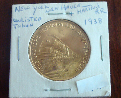 1938 New York New Haven And Hartford Railroad Safety Token Medal Coin H Daake