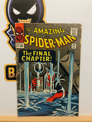 Amazing Spider-Man #33 (5.0) VG/Fine Steve Ditko Iconic Cover 1966 By Stan Lee