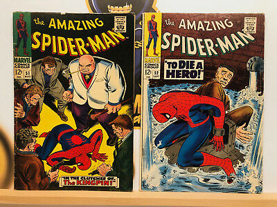 Amazing Spider-Man Silver Age Lot #51 & 52 VG+ 2nd & 3rd Kingpin App By Stan Lee