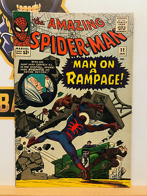 Amazing Spider-Man #32 (5.5) Fine- Doctor Octopus 1966 Silver Age By Stan Lee