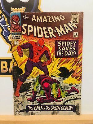 Amazing Spider-Man #40 (4.0) VG Death of the Green Goblin 1966 By Stan Lee