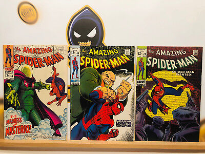 Amazing Spider-Man Silver Age 1960s Lot #66 69 & 70 VG+ By Stan Lee