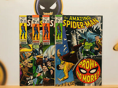 Amazing Spider-Man Silver Age 1960s Lot #79 80 83 & 84 VG+ to Fine+ By Stan Lee