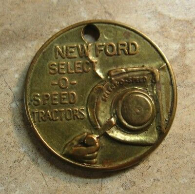 Vintage Ford Select-O Speed Tractor Advertising Medal Or Key Tag 1959