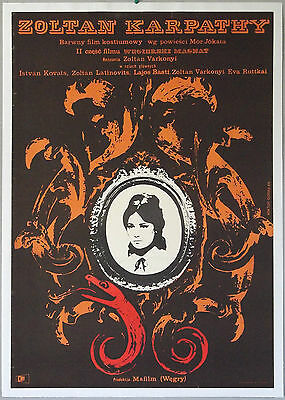 Karpathy Zoltan, 1965, Wiktor Gorka art, Polish poster, linen backed