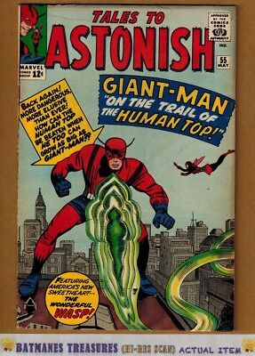 Tales to Astonish  #55 (5.0) VG/Fine Hank Pym Giant Man 1964 Silver Age Stan Lee