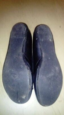 Well worn / Used black size 8 flat ladies shoes