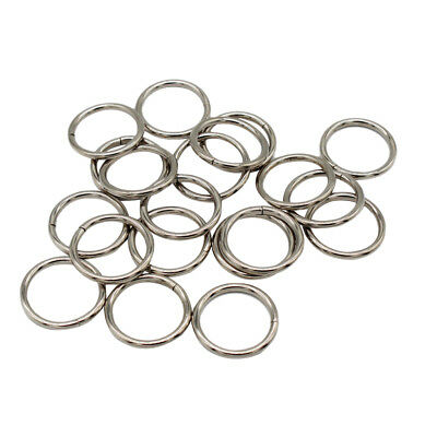 20pcs Metal Open Jump Rings Open Connectors Circle Metal Finding 20mm Silver
