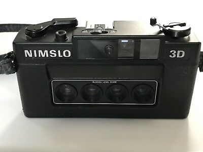UNTESTED Nimslo 3D Quadra Lens 30mm 35mm Film Camera