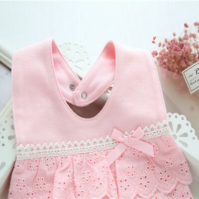 Sweet Cotton Baby Bibs Lace Bow Baby Towel Infant Super Soft Baby Bib Burp Cloth