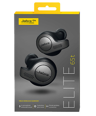 Jabra Elite 65t True Wireless Bluetooth Earbuds Titan Black (FACTORY SEALED)