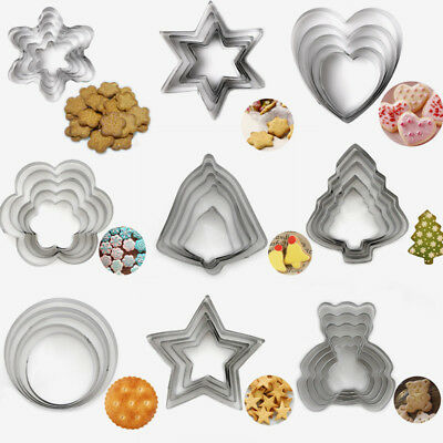 5Pcs/set Stainless Steel Cookie Cutter Biscuit Mould Baking Pastry 10 Style Mold