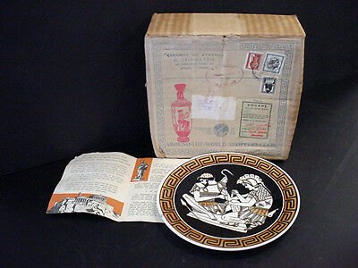 vTg Around the World Shoppers Club Ceramic Greek Wall Plate Athens Greece in Box