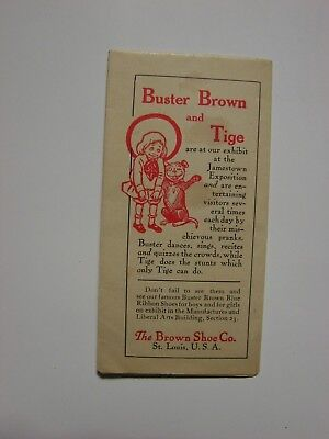 1907  Brown Shoe Co Ground Plan at Jamestown Exposition, Buster Brown & Tige Ad
