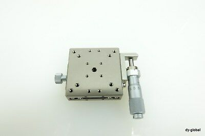 Nickel plated Japan precision positioner 50X50X16 manual linear stage STA-I-212