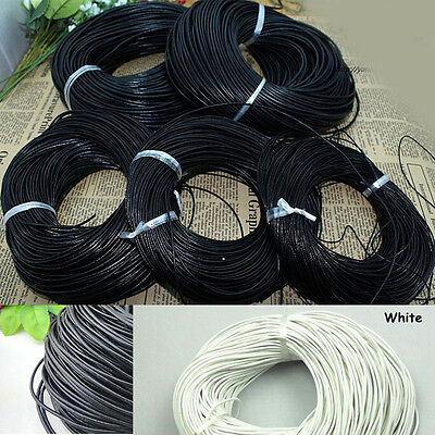 3/10M Faux Leather Necklace Bracelet Rope String Cord 1.5/2.0mm Jewelry Makings