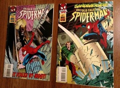 Stan Lee Presents Untold Tales Of Spider-Man #2 & #3 Marvel Spiderman 1995