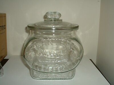 """Authentic 1930 Planters Peanut """"Football"""" Store Counter Jar. Great Condition"""