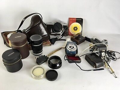 Vintage Nikon Nikkormat 35mm Camera w/ Accessories