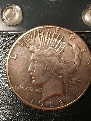 1928 Peace Dollar - Key Date - Free shipping