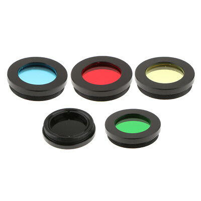 """Telescope Eyepiece Lens Color Filter Set 1.25"""" for Astronomy Moon Planet 5Pack"""