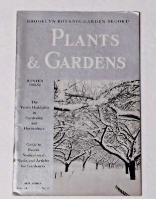 Brooklyn Botanic Garden Record Plants & Gardens Winter 1958-59 vol. 14 #4 Guide