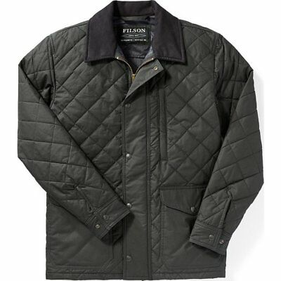 Filson Navy & Gray Quilted Mile Marker Jacket, Men's L NWT MSRP $450