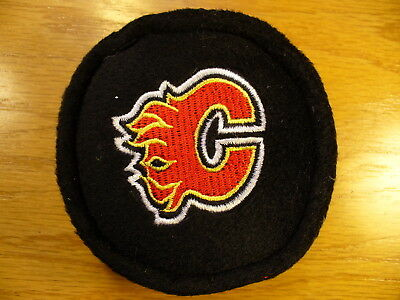 NHL Calgary Flames Plush Bean Bag Team Logo Hockey Puck Check My Other Pucks