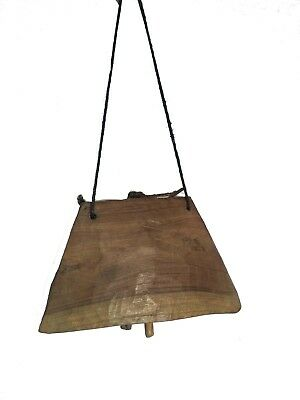 Indian  Vintage Wooden Decorative Cow Bell  Home Decor Jbno-003