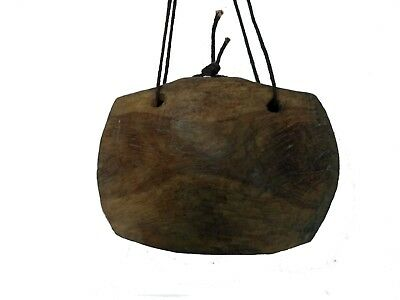 Indian  Vintage Wooden Decorative Cow Bell  Home Decor Jbno-008