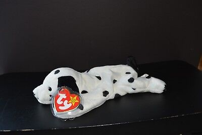 Ty Beanie Babies Puppy Dog Dotty Dalmatian with Protected Tag