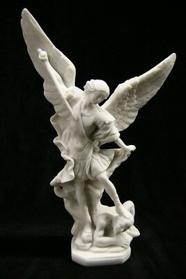"8.25""  Saint Michael the Archangel Italian Statue by Vittoria Collection"