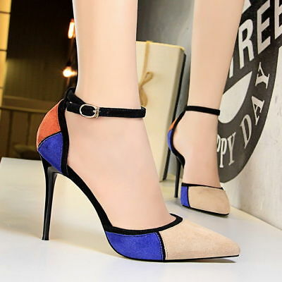 Women Pointed Toe Pumps High Heels Stilettos Party Weddding Sandals Ladies Shoes