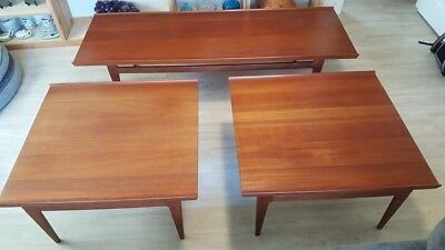 Vintage Danish Mid Century Modern Coffee Table And End Tables Finn