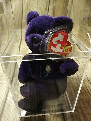 TY Beanie Babies RARE RETIRED Princess Diana PVC 1ST Edition 1997 NO SPACE NWMT!