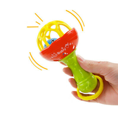 1Pc Colorful Baby Teethers Baby Rattles Hand Bell Grasp Toy Kid Educational Toys