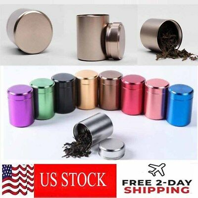 2PCS Stash Jar-Airtight Smell Proof Container-New Aluminum Herb Jar USPS SHIP