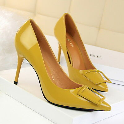 Women Classic Pumps Pointed Toe High Heels Stilettos Slip On Party Ladies Shoes