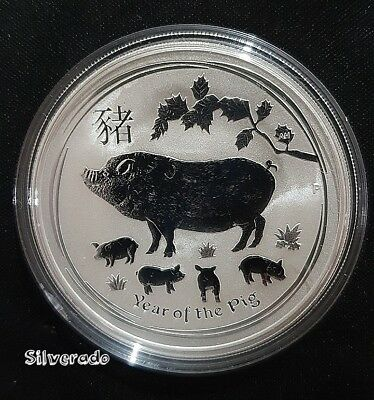 New 2019 Year Of The Pig 1 Oz Silver Coin Bullion 9999 Lunar Series 2 Perth Mint