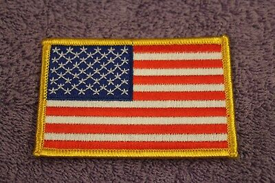 "USA American Flag Iron On Patch 3.5/"" x 2.25/"" New"