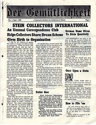 Beer Stein Collectors International 1st and 2nd Editions of Magazine 1965