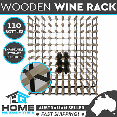 110 Bottle Timber Wine Rack Wooden Storage Organiser System Cellar Display