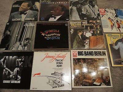 Jazz LP Sammlung 11 St. - Antolini,Smith,Oscar Peterson, Basie,Brubeck...