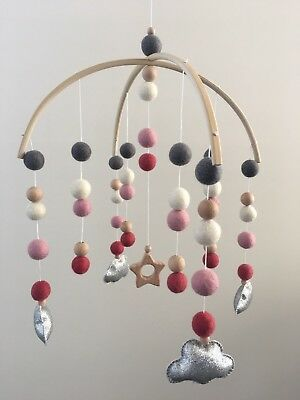nursery decor Felt Ball Hanging Mobile Baby Decor