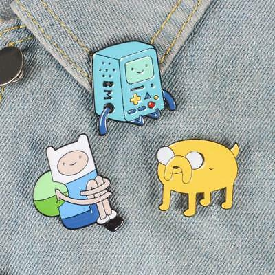 Unique Cartoon Adventure Time Figure Pins&Brooches Metal Accessory Jewelry ^