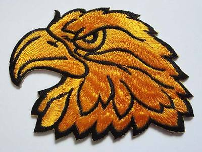 Hawk Eagle Head Motorcycles Biker Embroidered Iron on Patch Free Shipping
