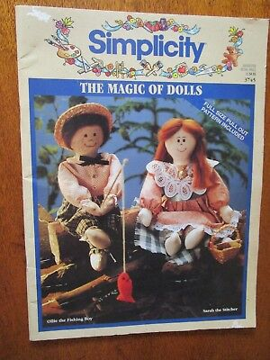 Simplicity The Magic Of Dolls  Book. 6  Soft Dolls To Sew.