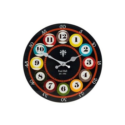 New In Pool Glass Wall Clock - 2 sizes